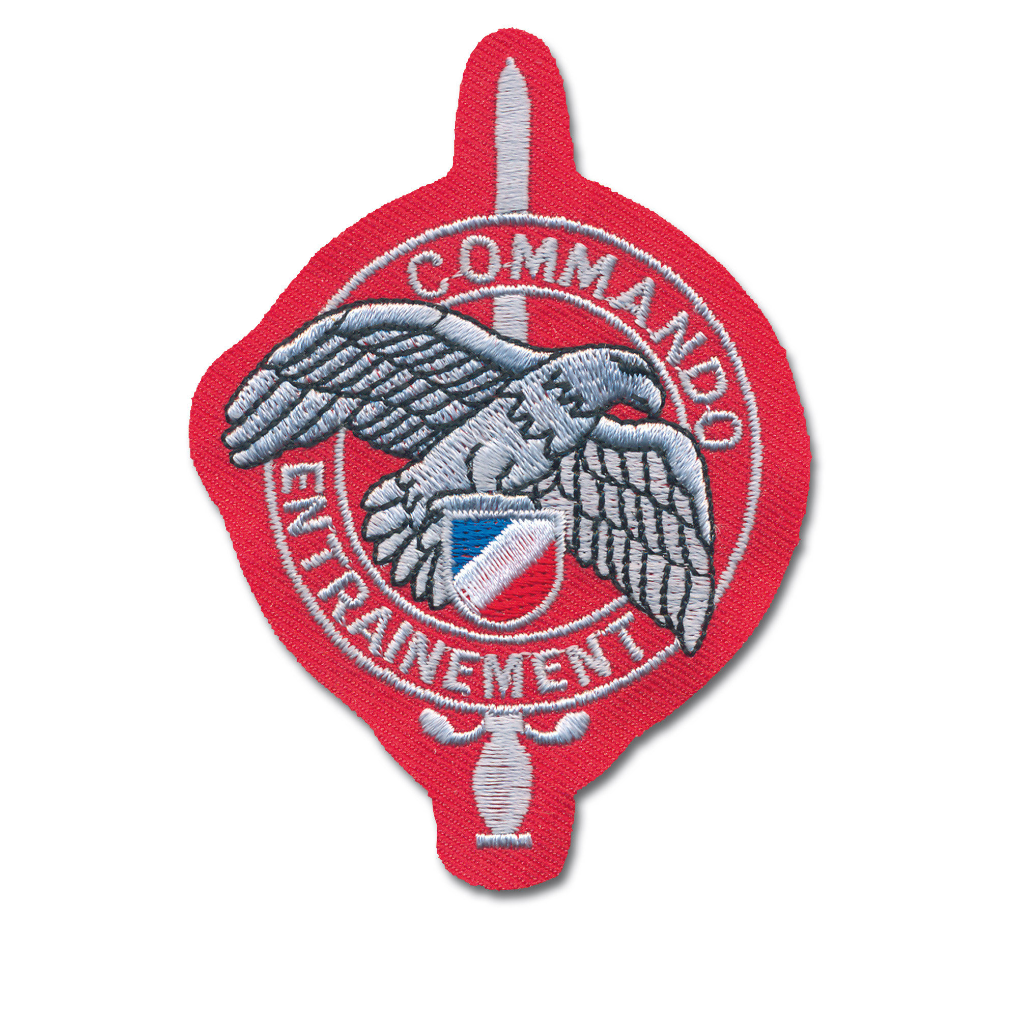 French Insignia Commando Entrainement red