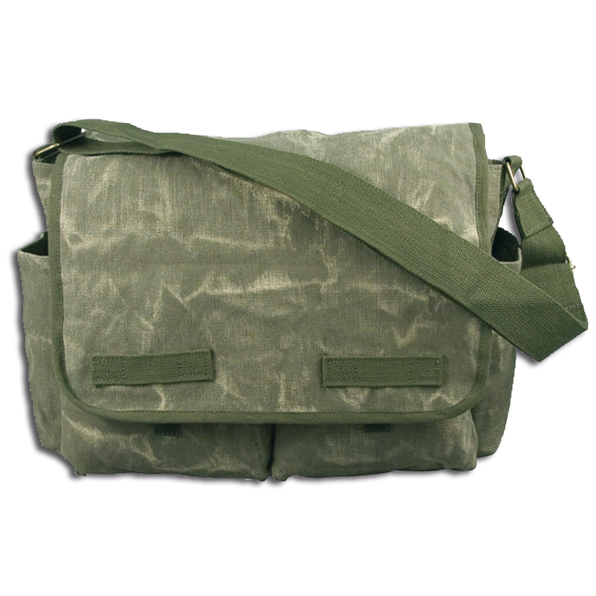 Messenger Canvas Bag Classic olive stonewashed
