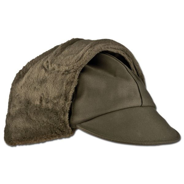 German Army Winter Pile Cap olive green