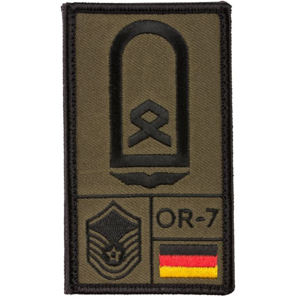 Café Viereck Rank Patch Hauptfeldwebel Luftwaffe olive