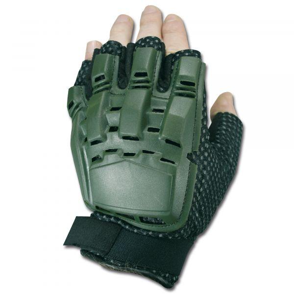 Gotcha-Paintball Gloves Half Finger olive green