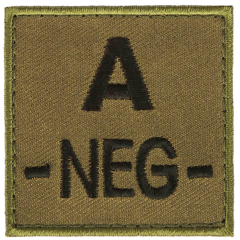 T.O.E Blood Group Patch A Neg. green