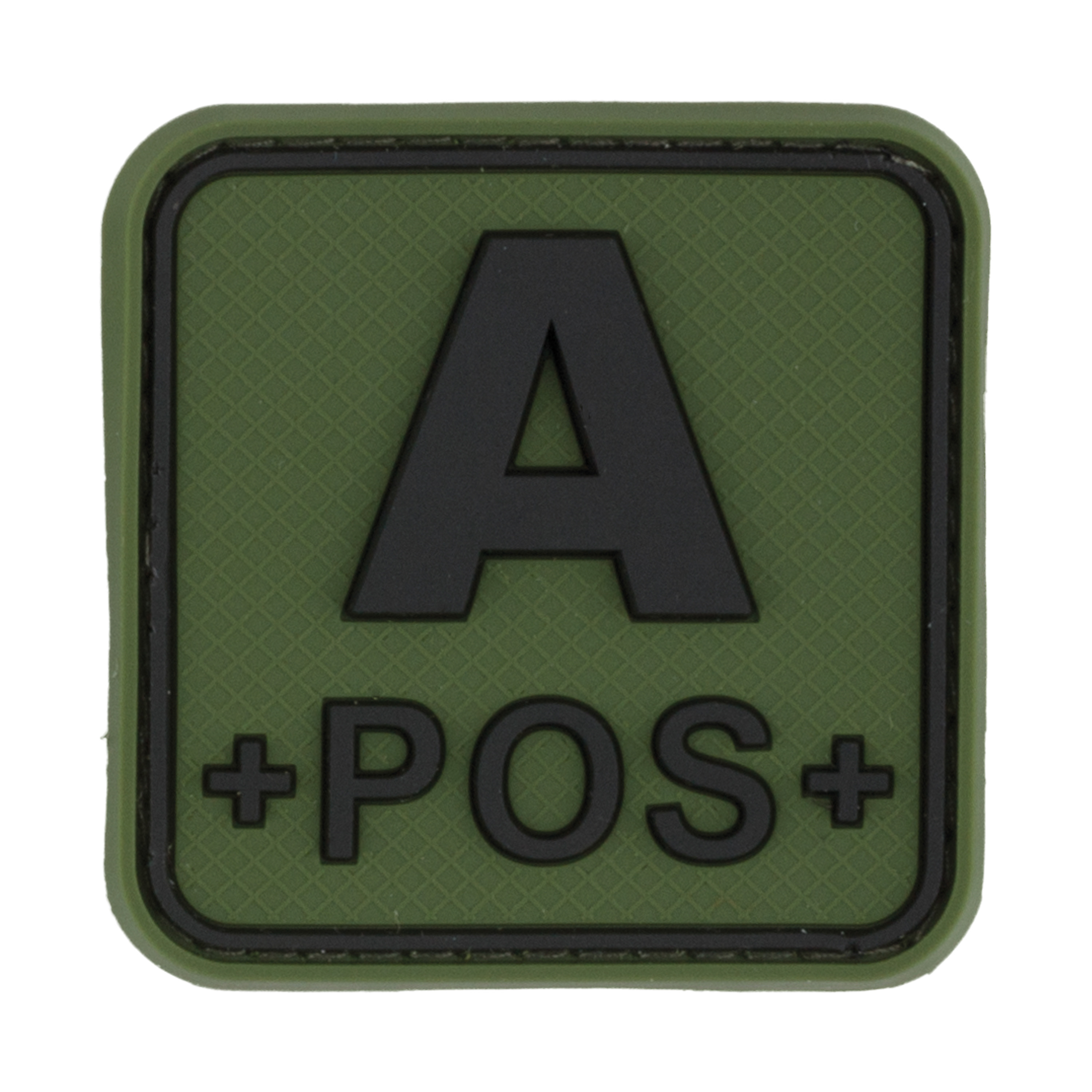 TAP 3D Blood Type Patch Rubber A Pos Square forest