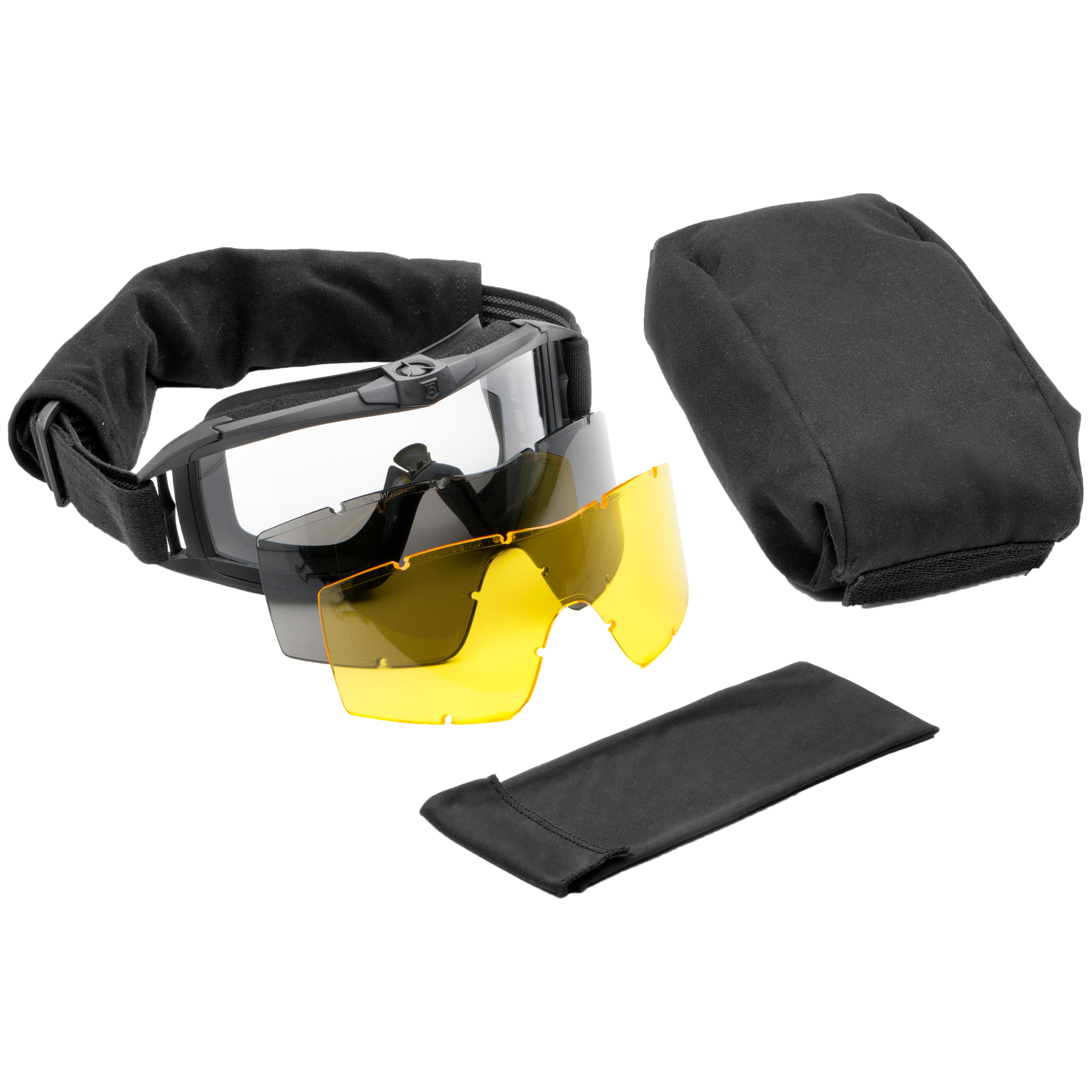 Revision Goggles Asian Locust Fan Deluxe black/yellow lens
