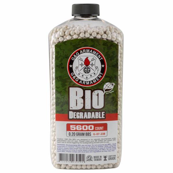 G&G Bio Airsoft BBs 6 mm 0.2 g 5600 Shot white