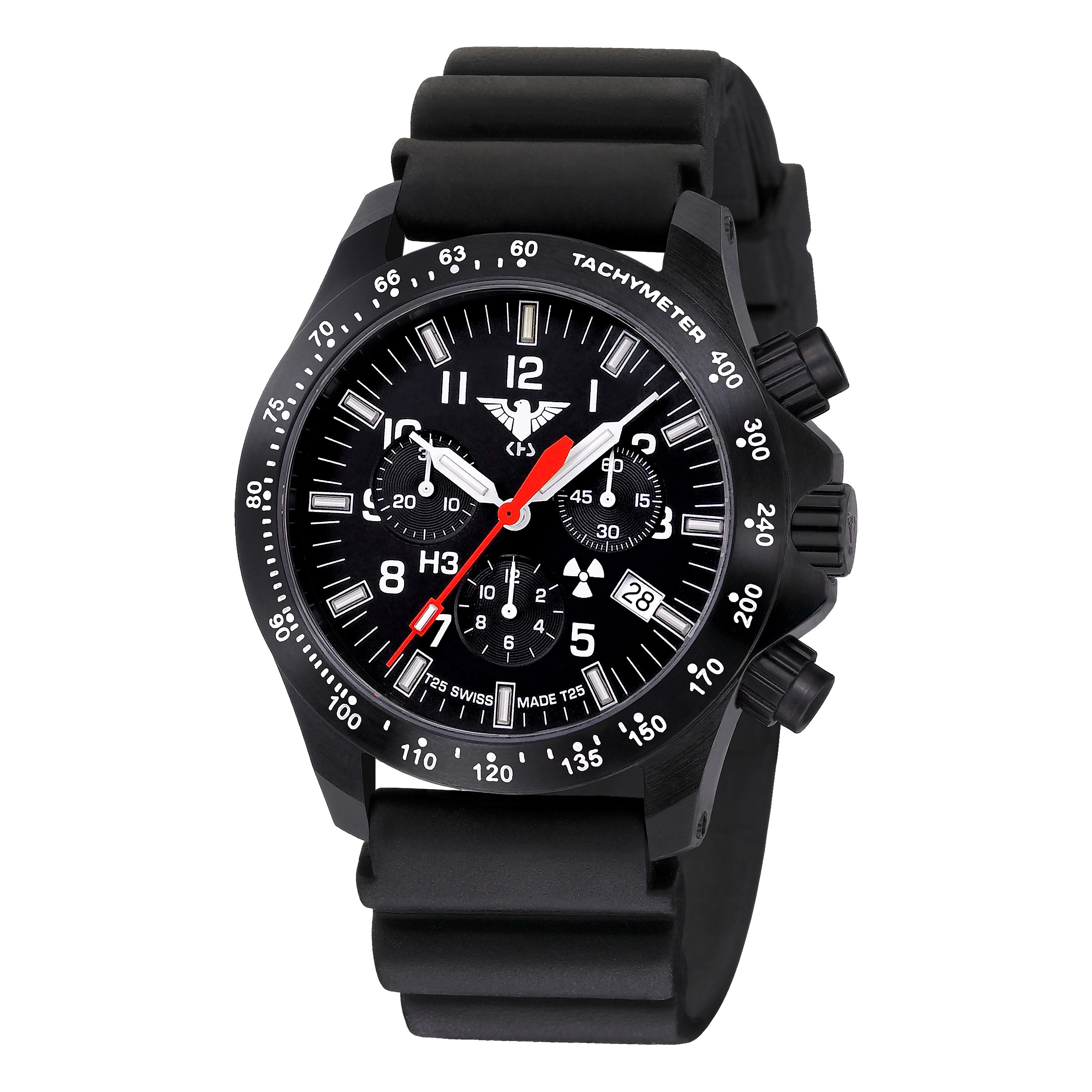 KHS Watch Platoon Chronograph LDR Diver Band black