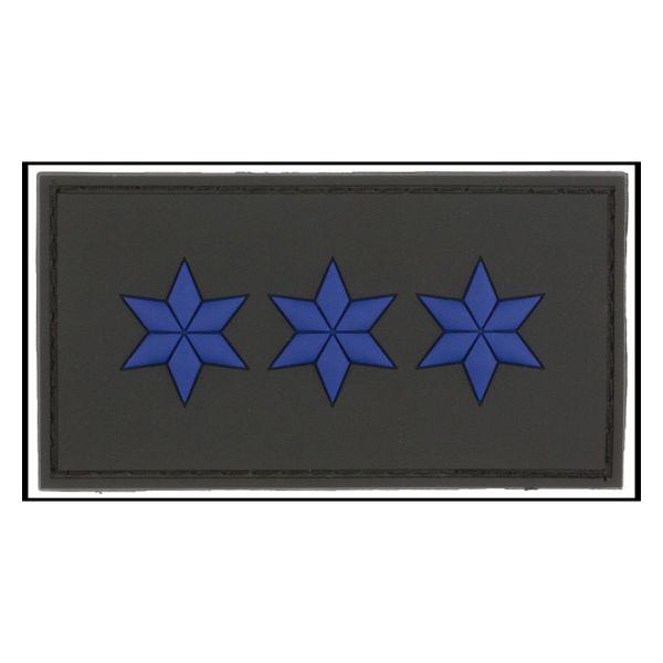 3D-Patch Rank Polizeiobermeister black