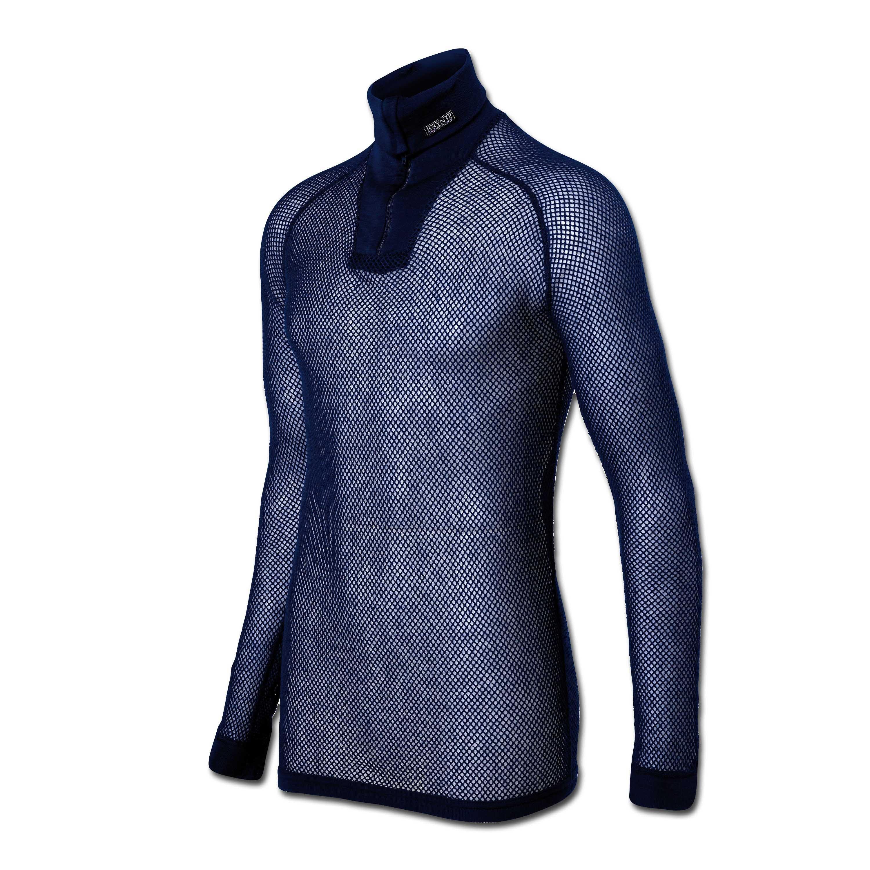 Brynje Zip-Polo Shirt blue