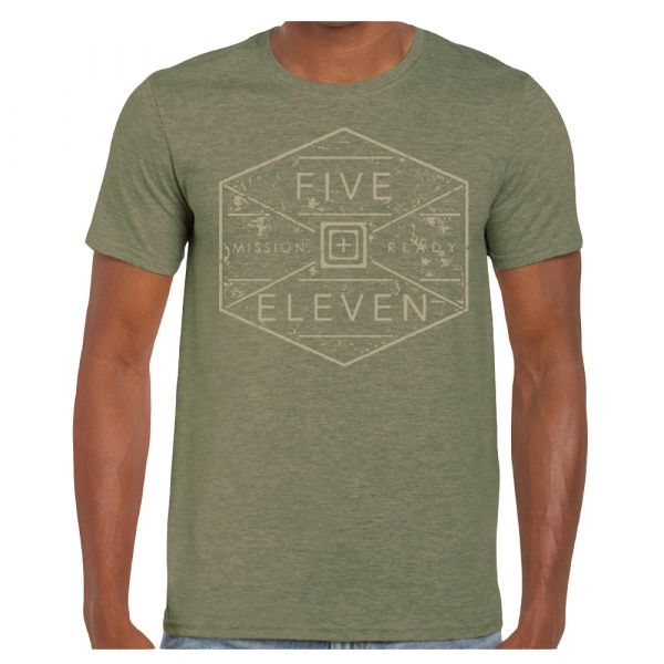 5.11 T-Shirt Hex Grid military green