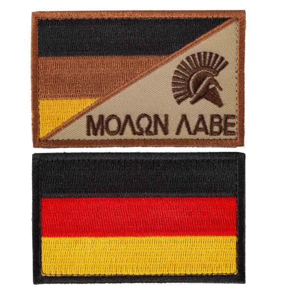 TacOpsGear Patch Set Molon Labe & Germany Flag 2 Piece