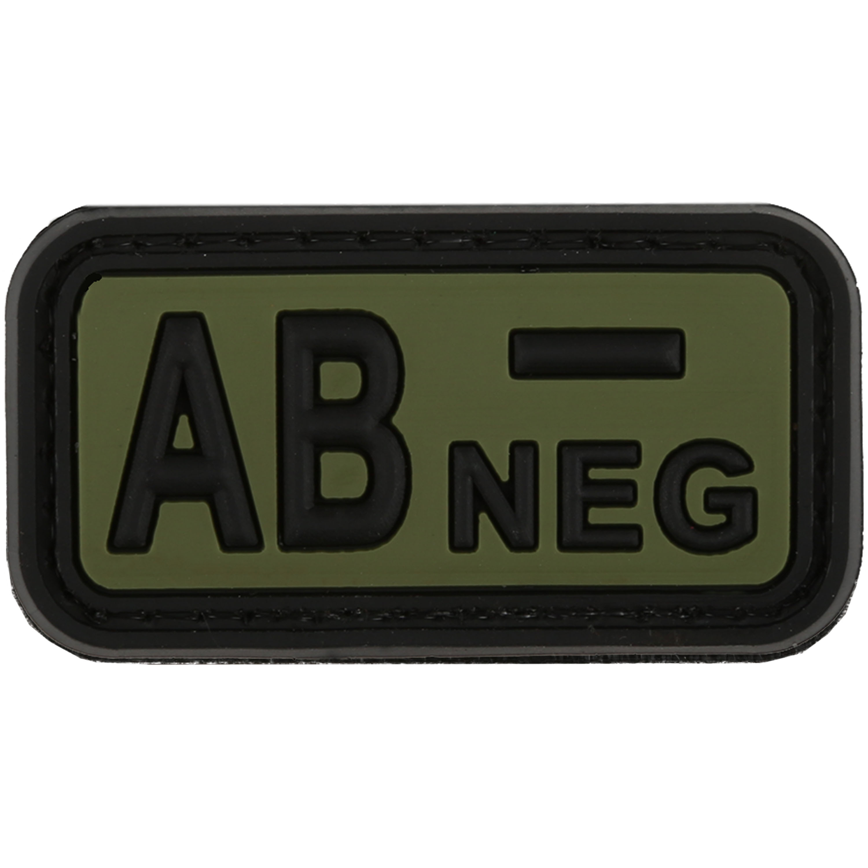 TAP 3D Blood Type Patch Rubber AB Neg forest