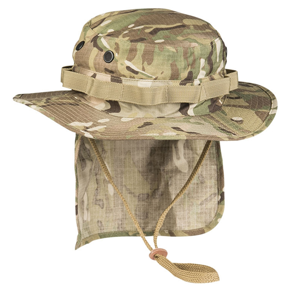 Teesar British Boonie Hat with Neck Flap Ripstop multitarn