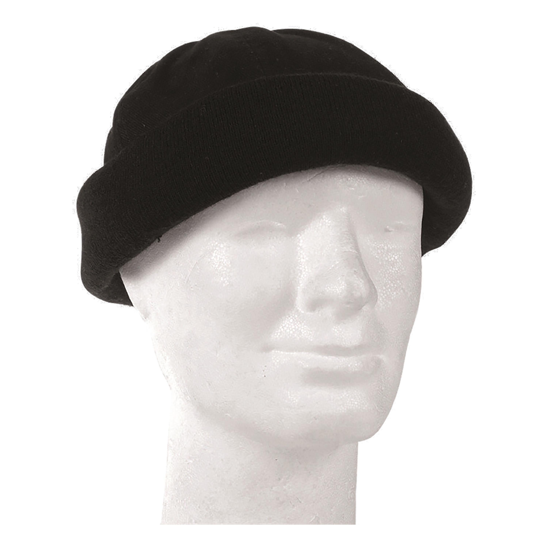 Mil-Tec Mens Warm Winter ROUND CAP One Size Black
