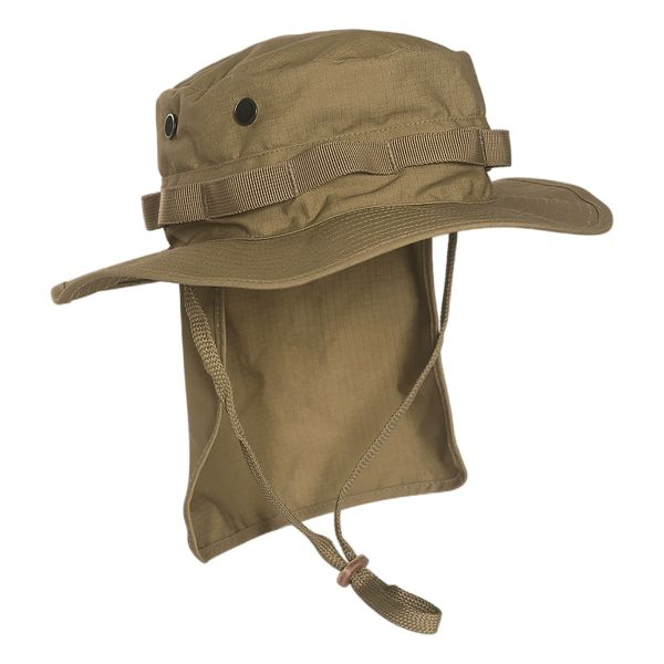 British Boonie Hat with Neck Flap Ripstop coyote
