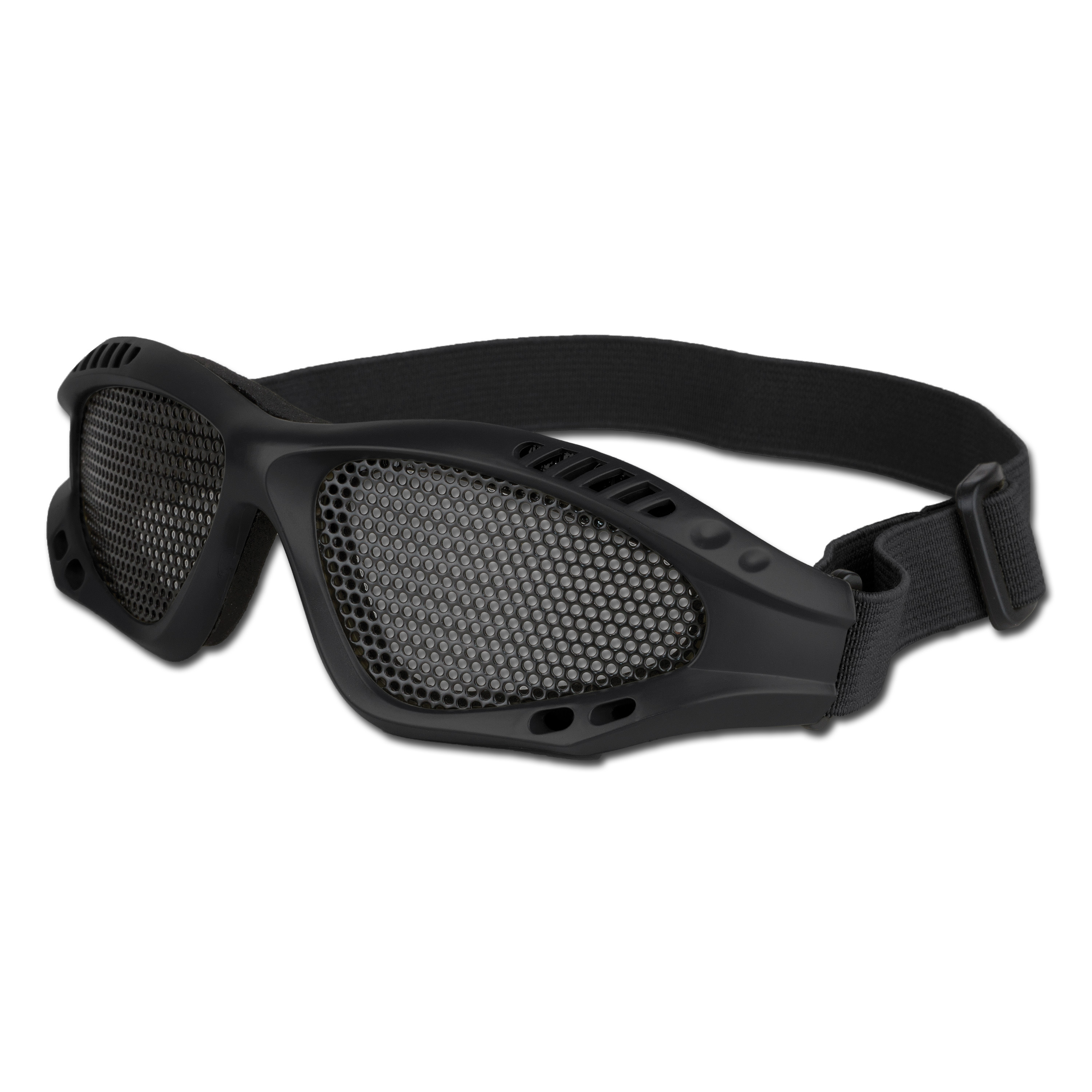 Airsoft Glasses With Metal Mesh Insert black