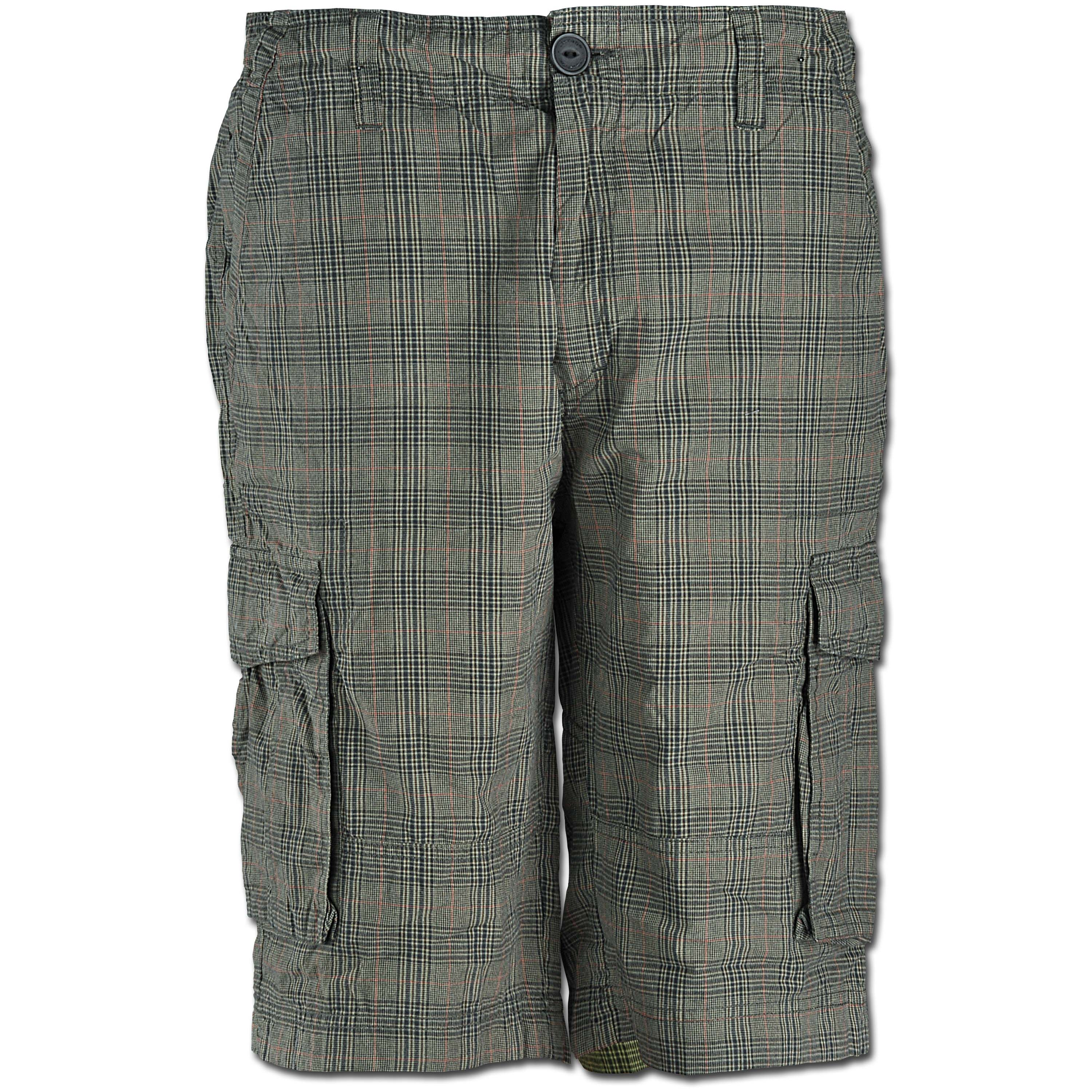 Shorts Vintage Industries Lance brown checkered