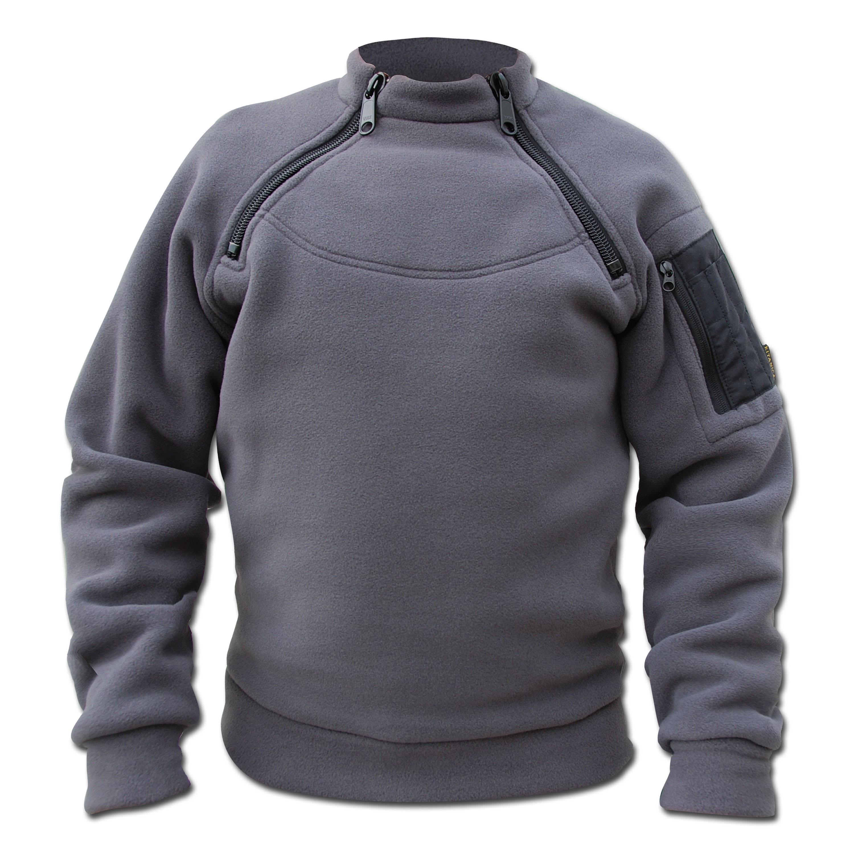 Jacket Kitanica 2-Zip Fleece gray