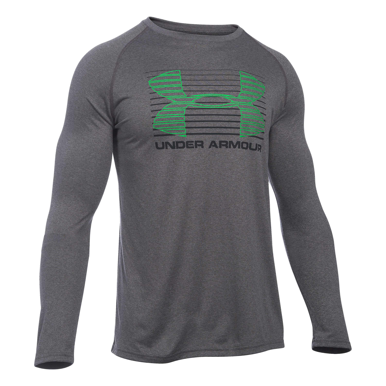 Under Armour Long Arm Shirt Tech Rise Up Sportstyle dark gray
