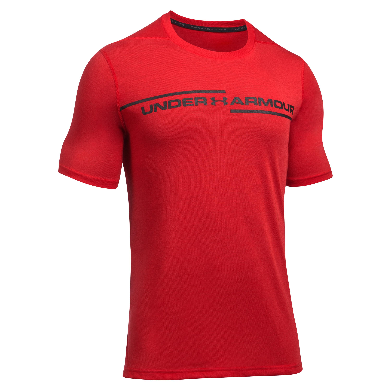 Under Armour T-Shirt Threadborne Cross Chest red/black