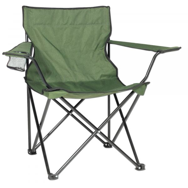Folding Chair with Steel Frame olive