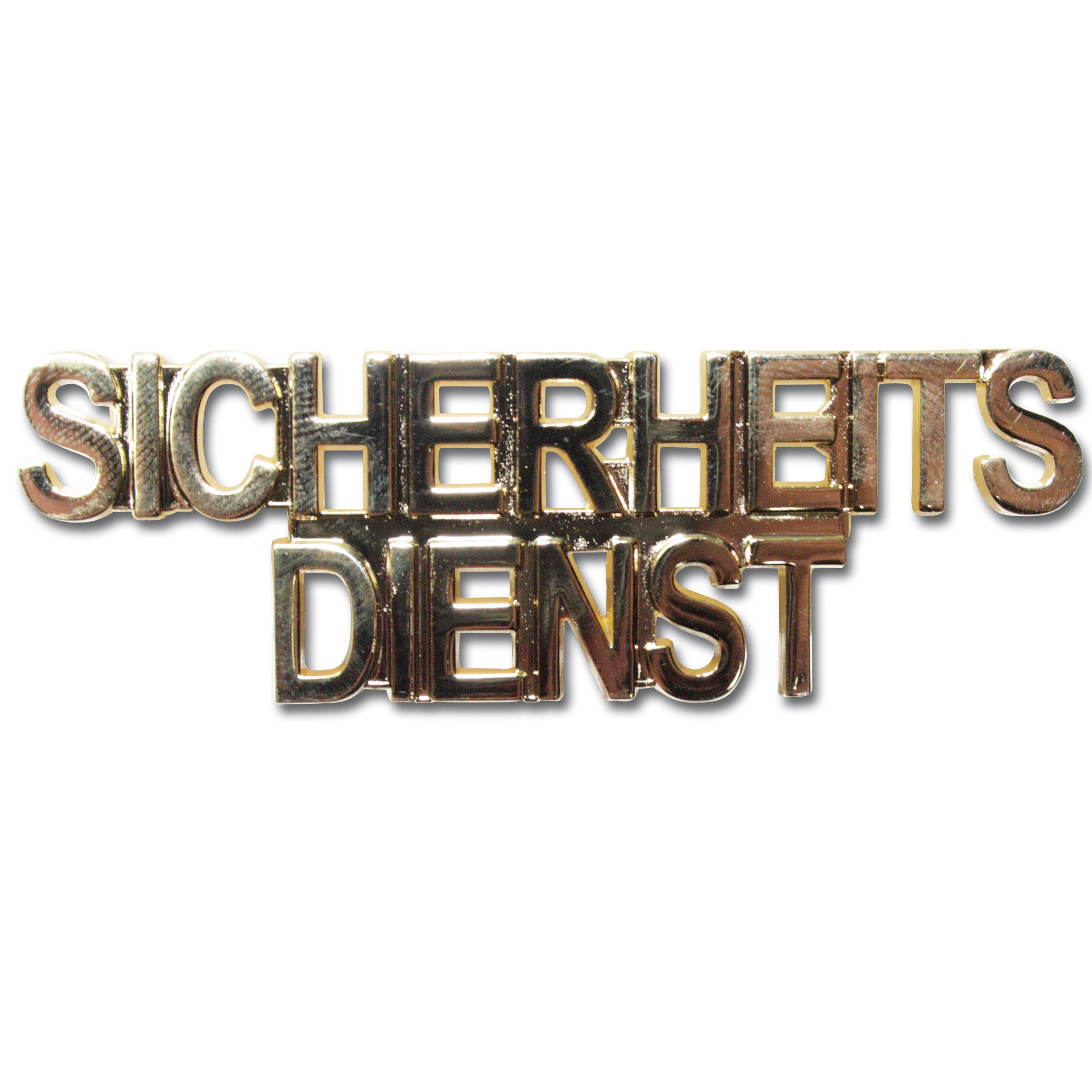 Collar patch SICHERHEITSDIENST gold