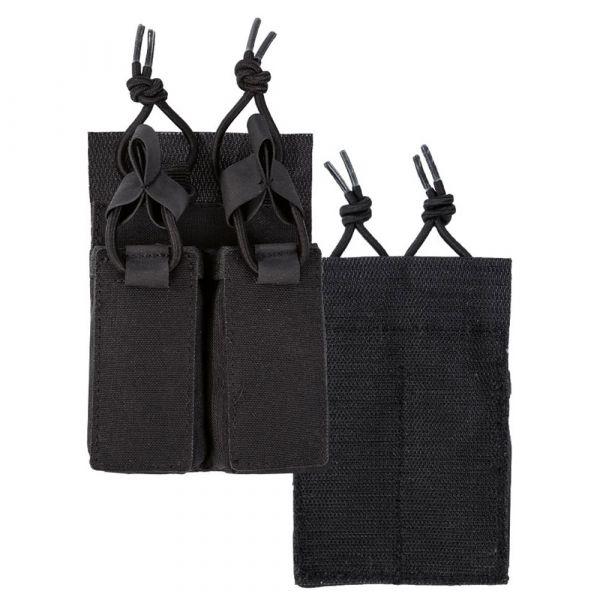 Mil-Tec Double Pistol Magazine Pouch Velcro Back black