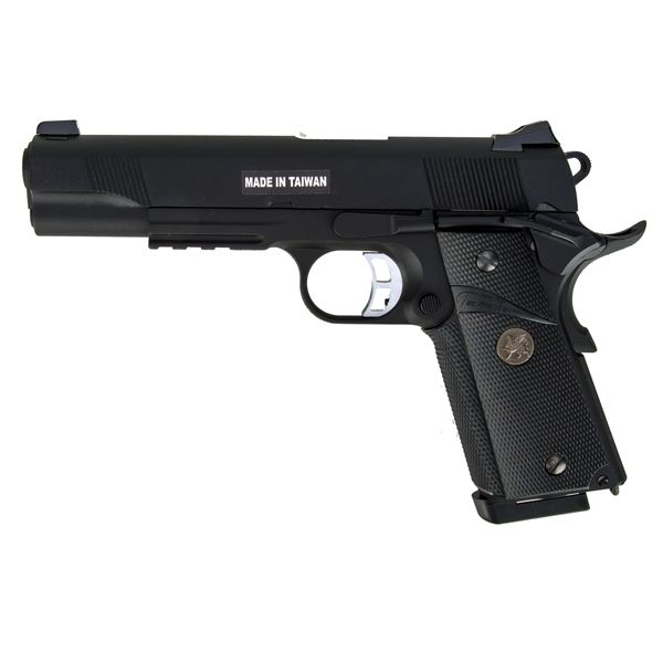 KJ Works Airsoft Pistol M1911 MEU Full Metal GBB black