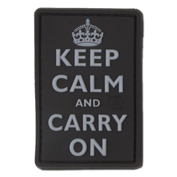 3D-Patch Keep Calm and Carry On swat