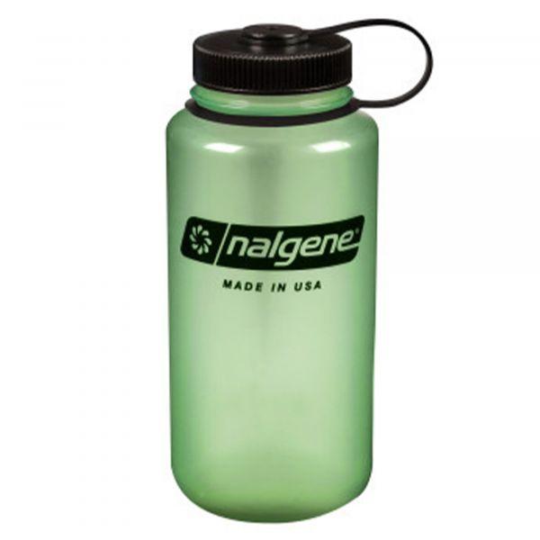 Nalgene Wide Neck Water Bottle 1 L glow green