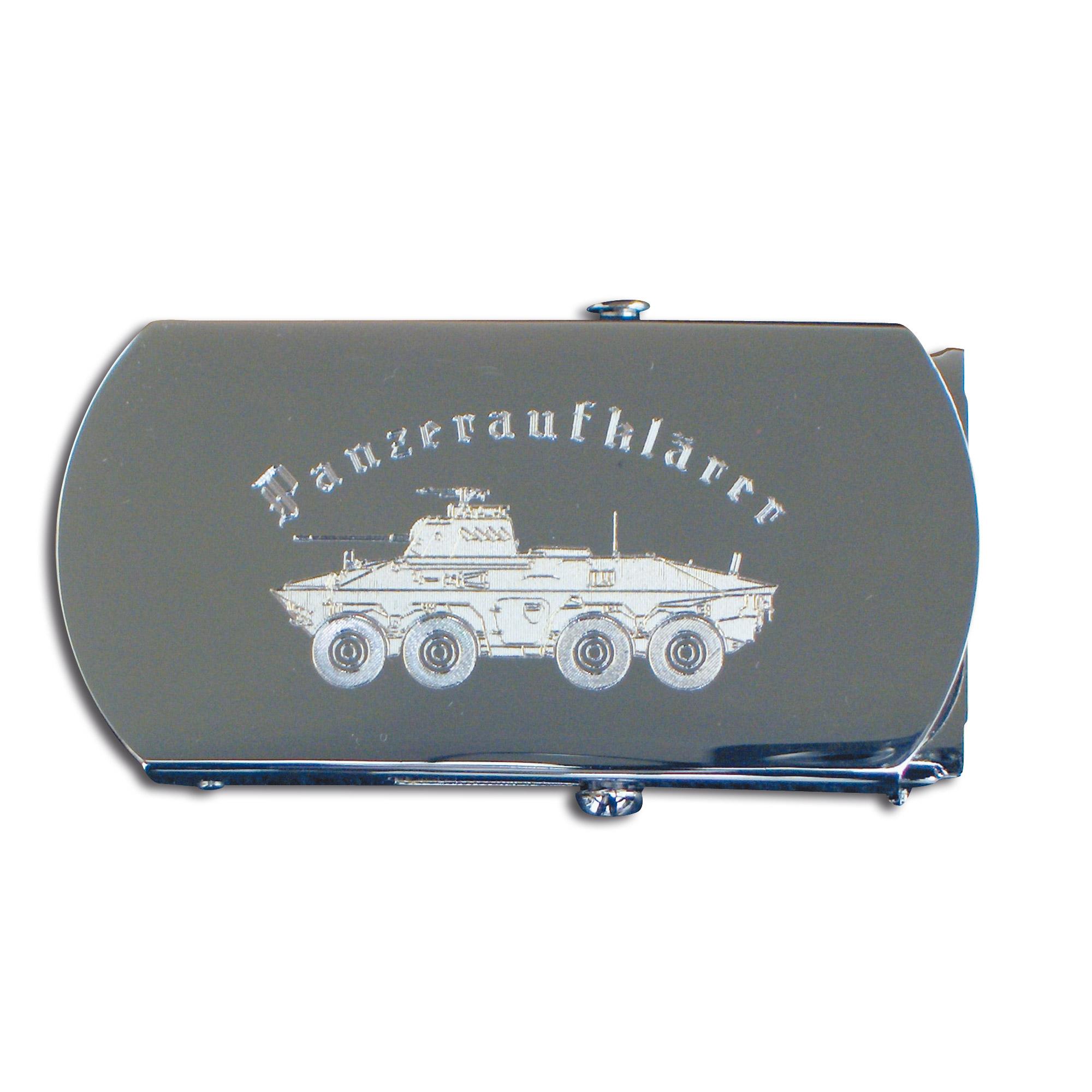 Belt with Engraved Buckle Panzeraufklärer