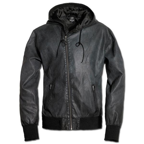 Jacket Brandit Dean PU Synthetic Leather black