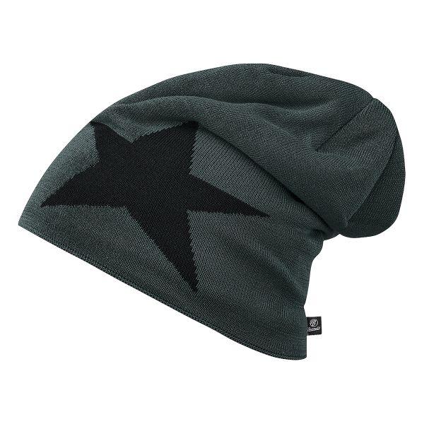 Brandit Beanie Jersey Star gray/black
