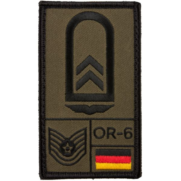 Café Viereck Rank Patch Oberfeldwebel Luftwaffe olive
