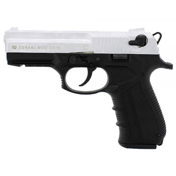 Zoraki Blank Pistol 2918 satin chrome