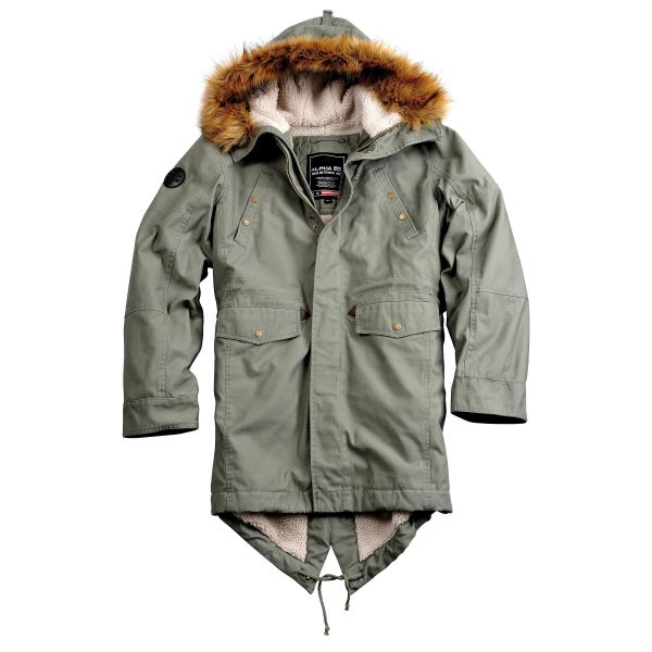 Alpha Industries Jacket Hooded Fishtail III olive