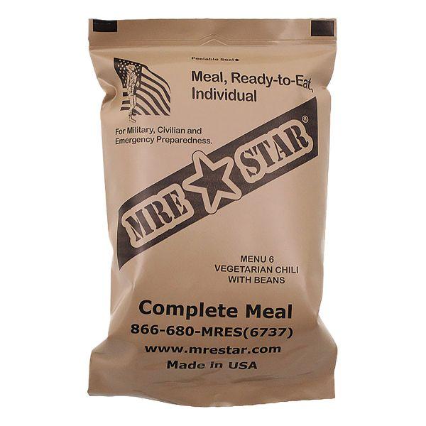 MRE Star Ready-to-Eat Vegetarian Chili