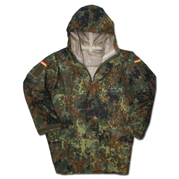 German Army Wet Weather Jacket Used flecktarn