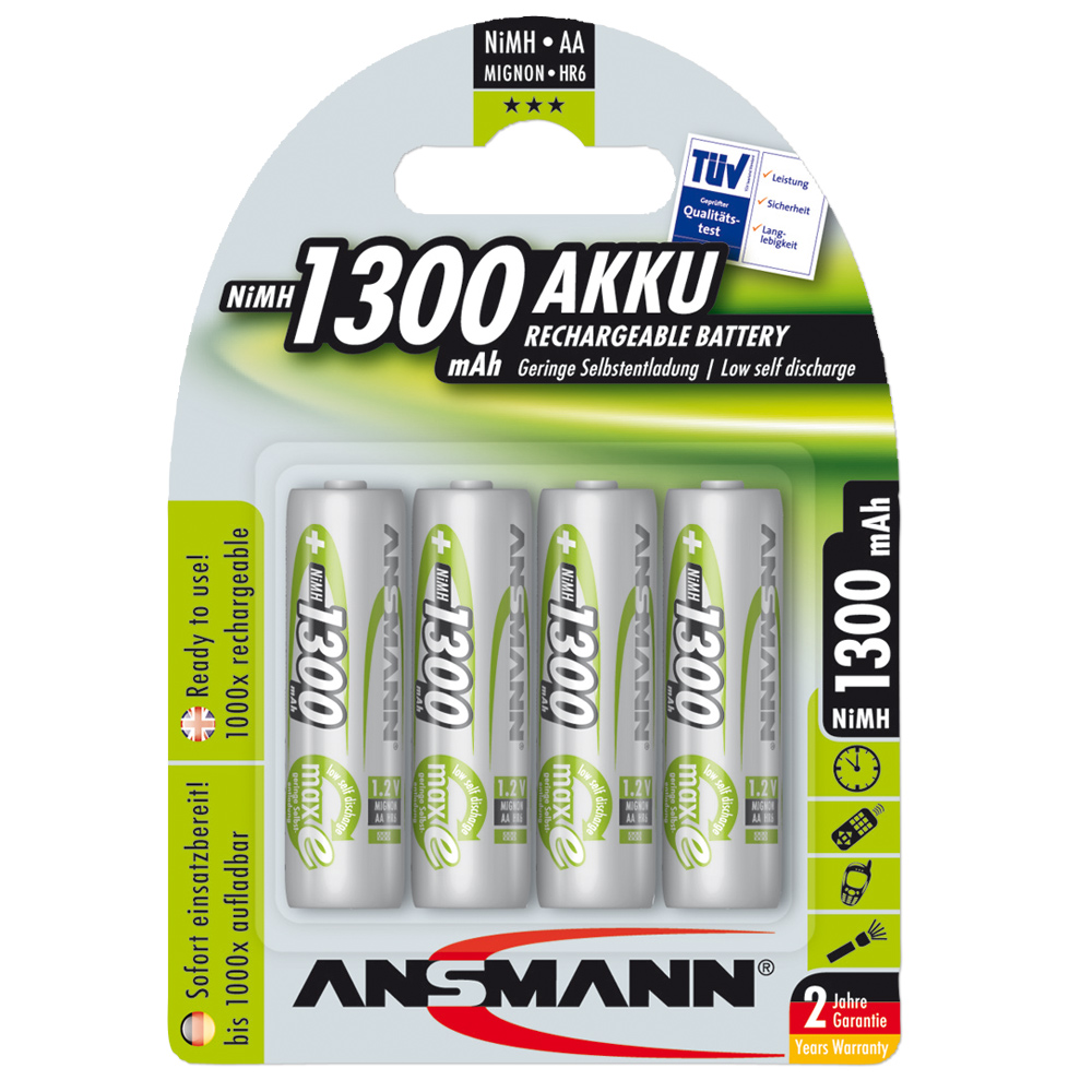 Batteries Ansmann NiMH Mignon AA Green-Line 4-pack