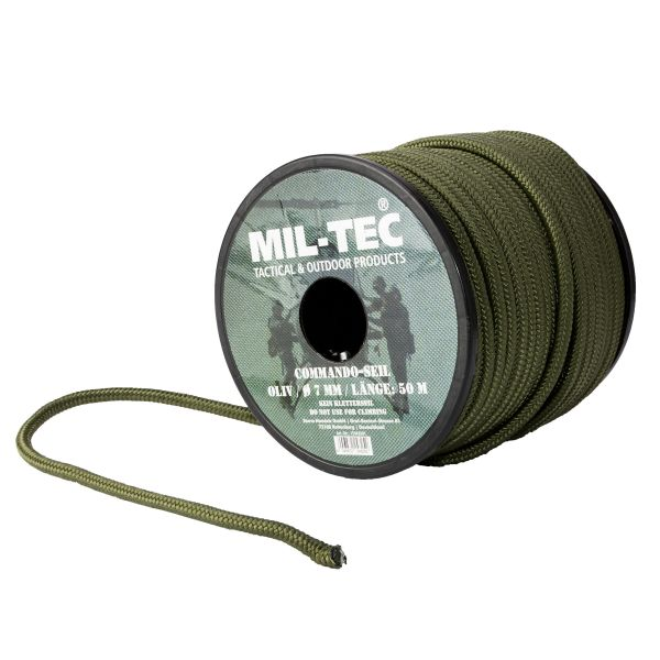 Commando Rope 7 mm, 50 m Roll olive