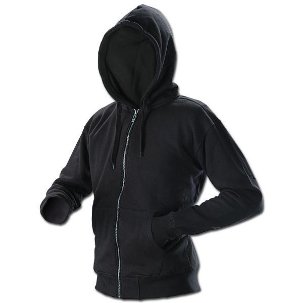 Zip Hooded Sweatshirt Vintage Industries Redstone Black