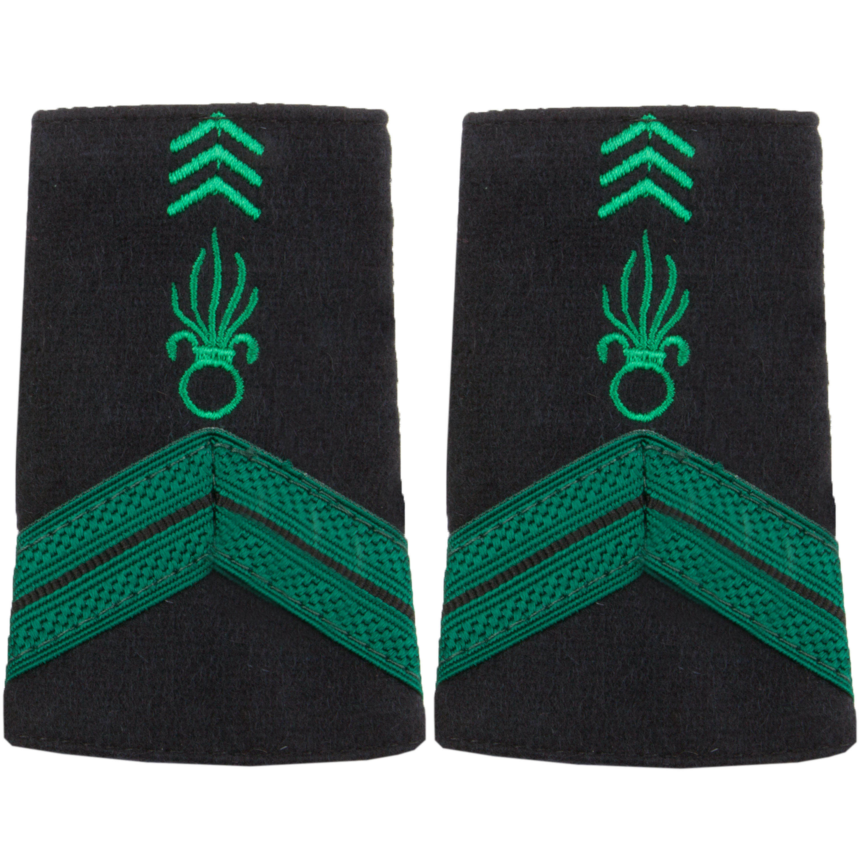 Textile Rank Insignia Caporal Légion green/black