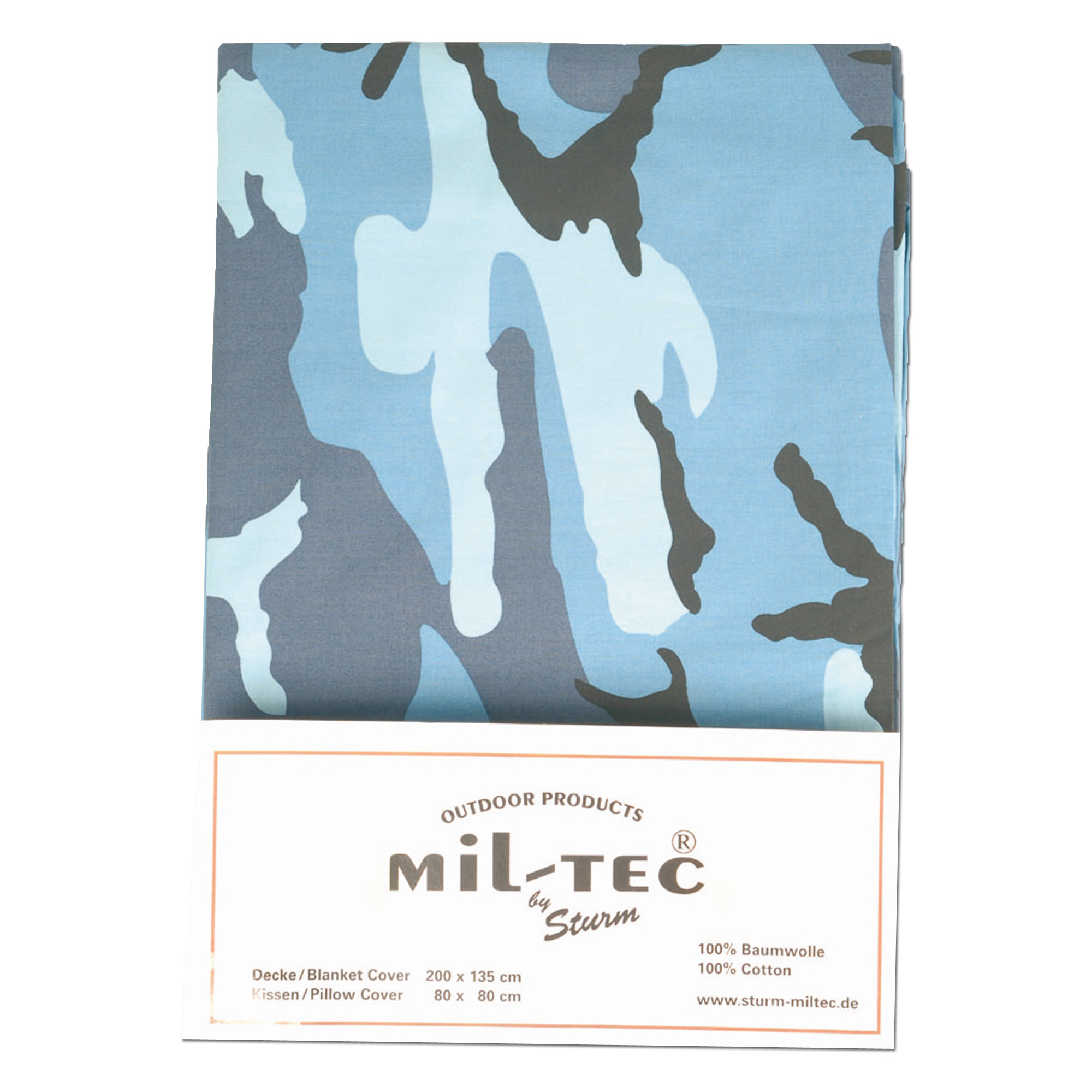 Bed cover and pillow Mil-tec skyblue