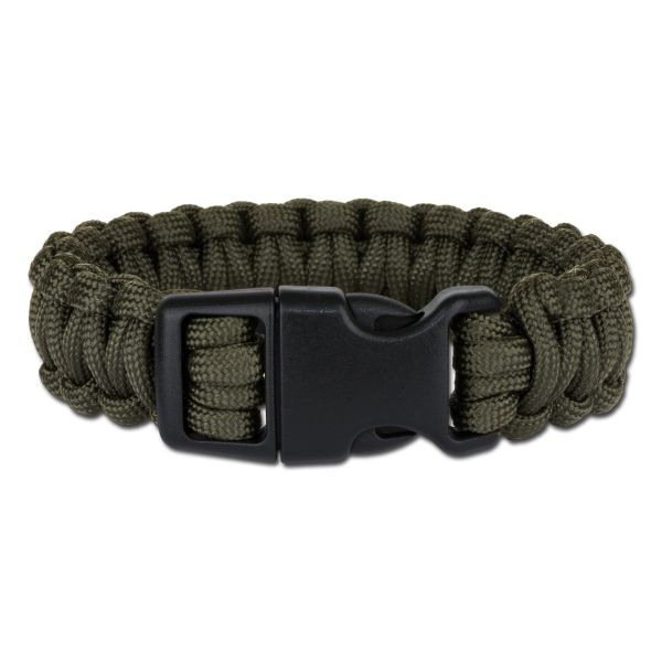 Survival Paracord Bracelet wide olive