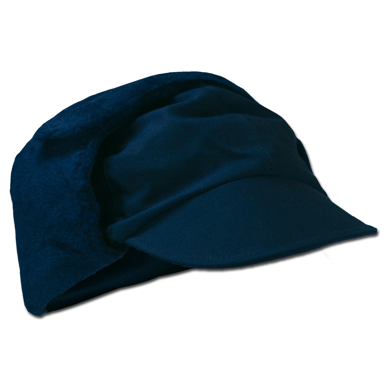German Army Winter Pile Cap blue