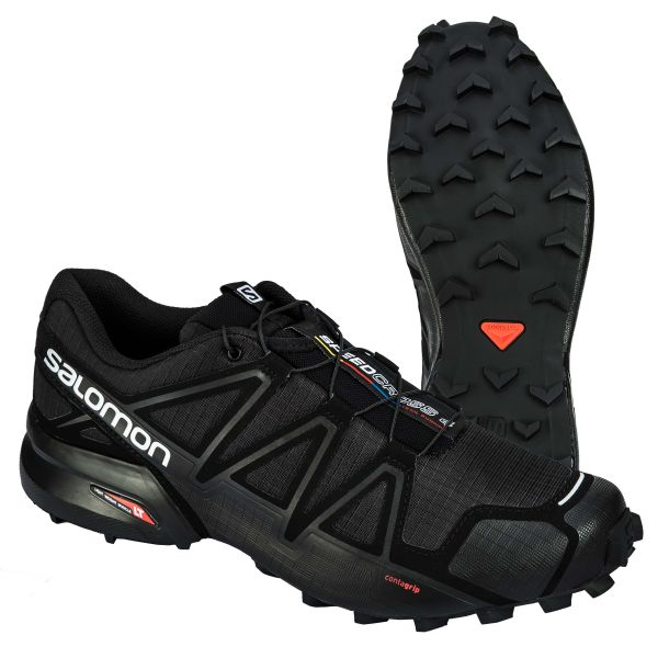 Salomon Shoes Speedcross 4 Wide black metallic