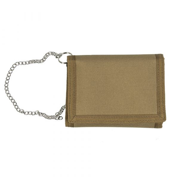 Mil-Tec Wallet with Security Chain coyote