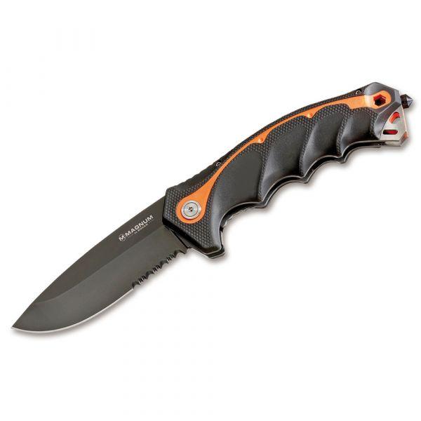 Magnum Pocket Knife Chainsaw Attendant black orange
