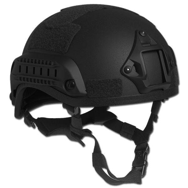 Combat Helmet MICH 2001 NVG Mount+Siderail black