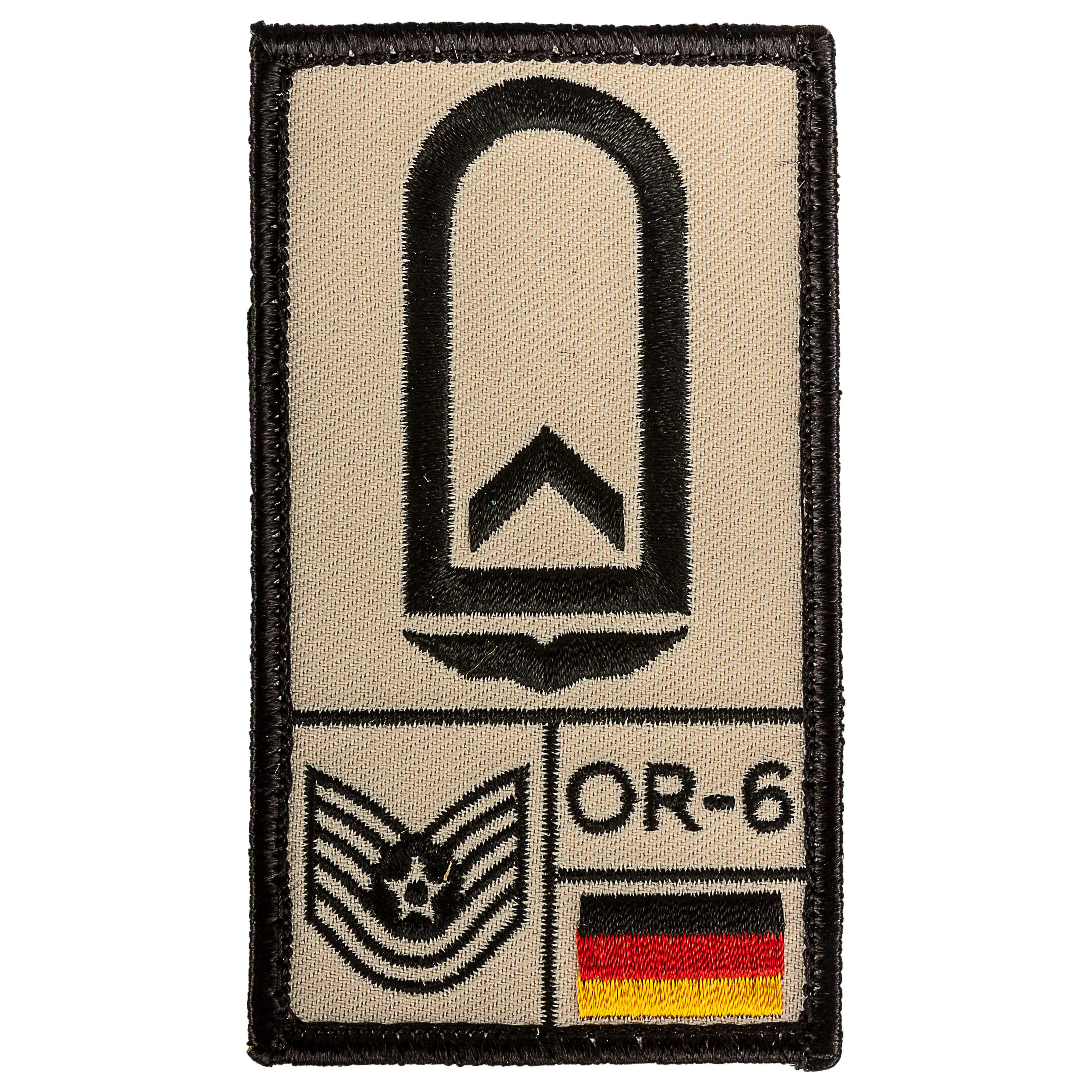 Café Viereck Rank Patch Feldwebel Luftwaffe sand