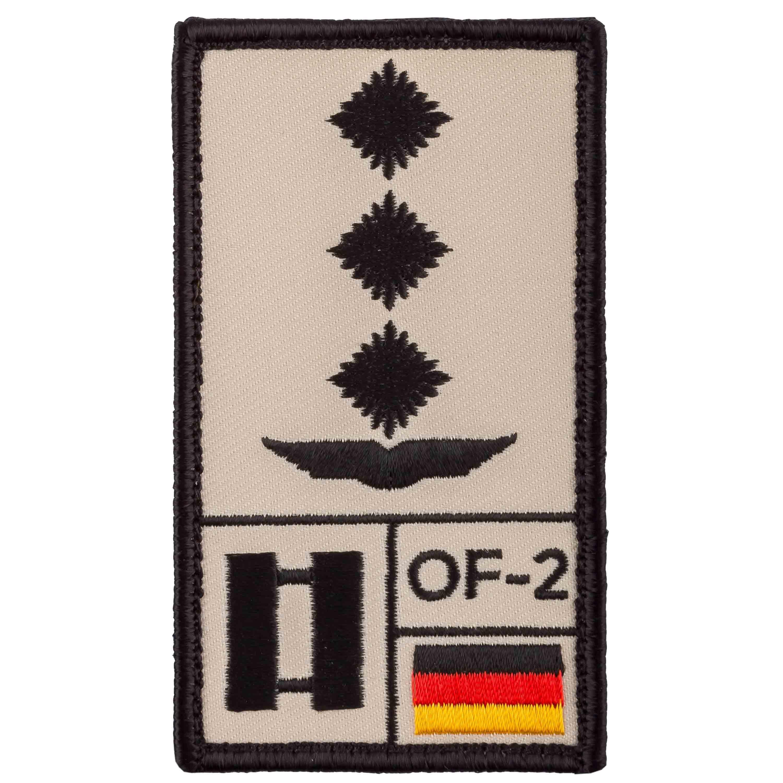 Café Viereck Rank Patch Hauptmann Luftwaffe sand